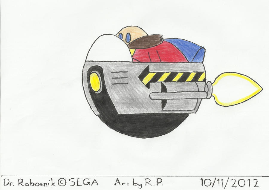 Dr. Robotnik in his Egg Mobile by BoomSonic514
