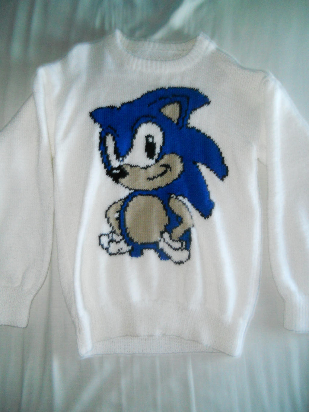 Knitting Pattern Sonic Hedgehog : Sonic the Hedgehog Knitted Jumper by BoomSonic514 on ...