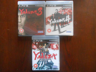 Yakuza 3, 4 and Dead Souls (PS3) by BoomSonic514