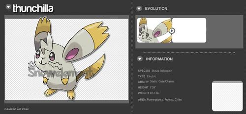 The Chinchilla Pokemon by Maregesus