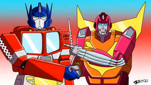 Hot Rod and Optimus Prime: Photo-Op!