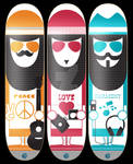 Peace.Love.Harmony Skate Decks