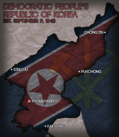 North Korea Civilization V Map Art by AlexfromEarth