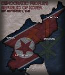 North Korea Civilization V Map Art