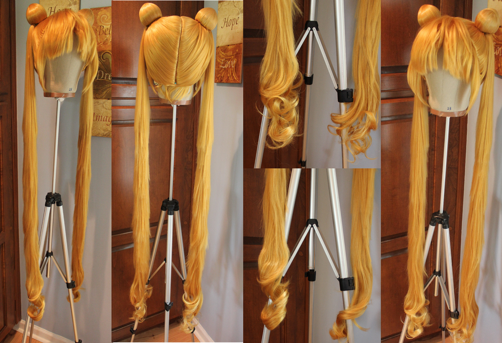Completed Sailor Moon Wig Commission 2 by Miss-Star-Bucket