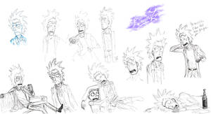 Rick and Morty Sketches
