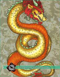 Mixed Media - Golden Dragon (Commission)