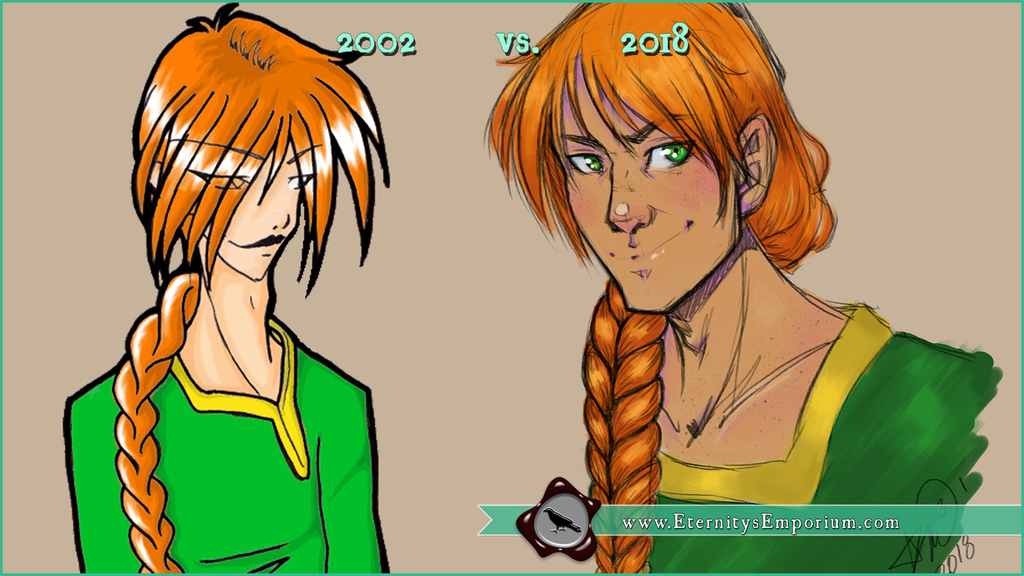 Improvement: 2002 vs 2018 Jasper by EternityEmporium