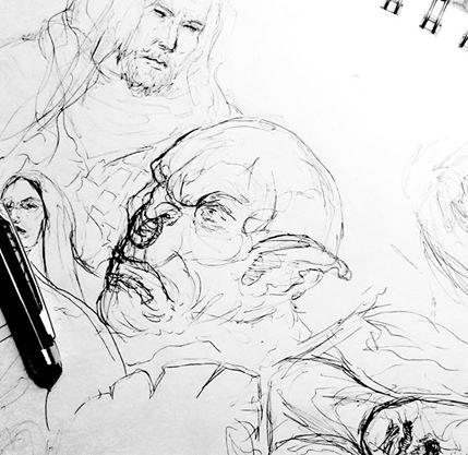 Orc : Sketch #3  INKtober 2014 by DymondStarr