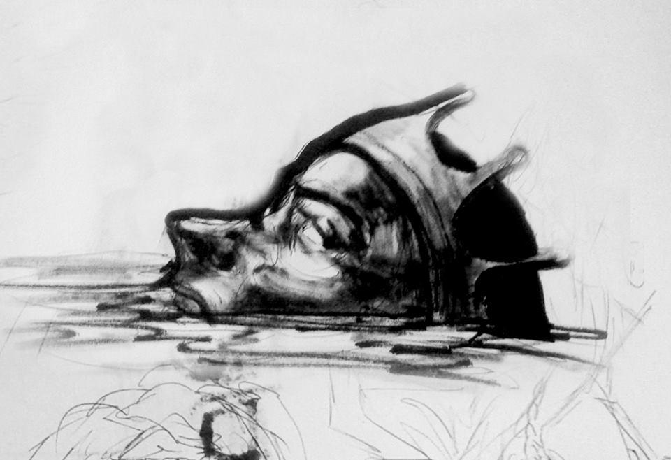 Drowning King Sketch : INKtober 2014 by DymondStarr