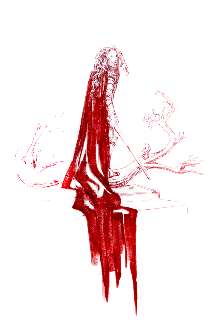 Crimson the Red : INKtober 2014 by DymondStarr