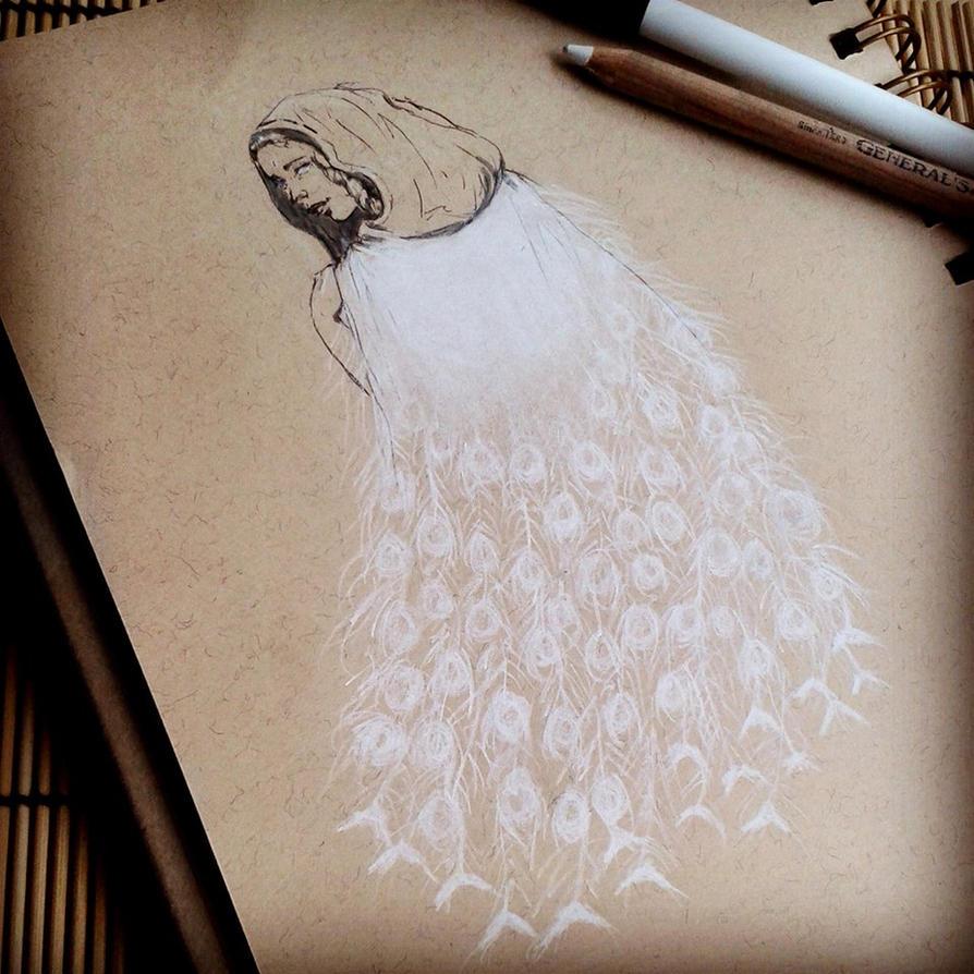 The White : INKtober 2014 by DymondStarr