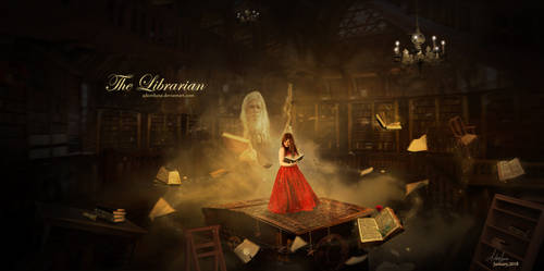 The Librarian by tornadoeyesART