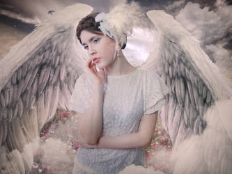 Angel (Simple work) by tornadoeyesART