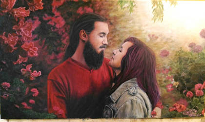 The Story of forever you and me  ( painting) by tornadoeyesART