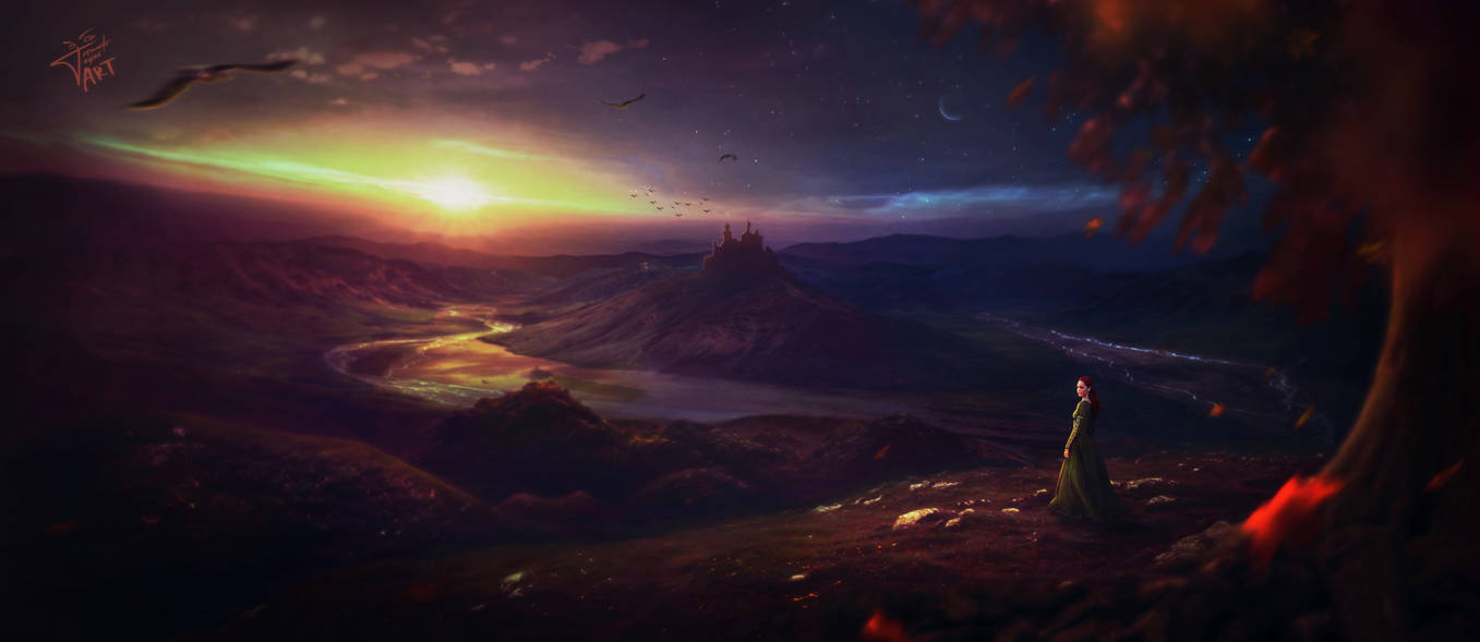 Sunset over the Lonely Kingdom