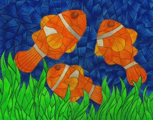 Underwater Mosaic Painting by VintageWarmth