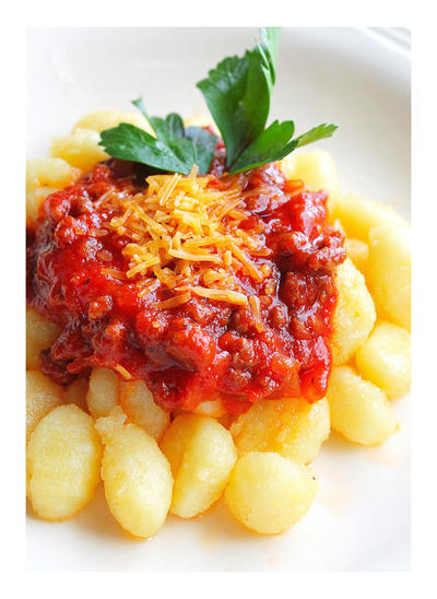 Potato Gnocchi with Tomato Sauce by VintageWarmth
