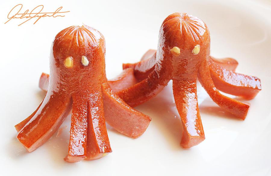 Octopus Hotdogs by VintageWarmth