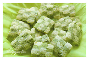 Green Tea Cheesecake Checkerboard cookies by ScarletWarmth