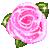 free avatar - glittered Pink rose by VintageWarmth