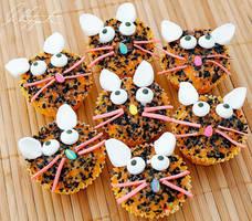 Calico Kitten Cupcakes