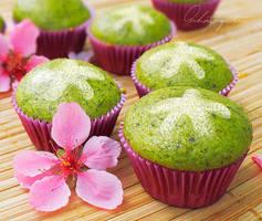 Matcha Petite Cupcakes