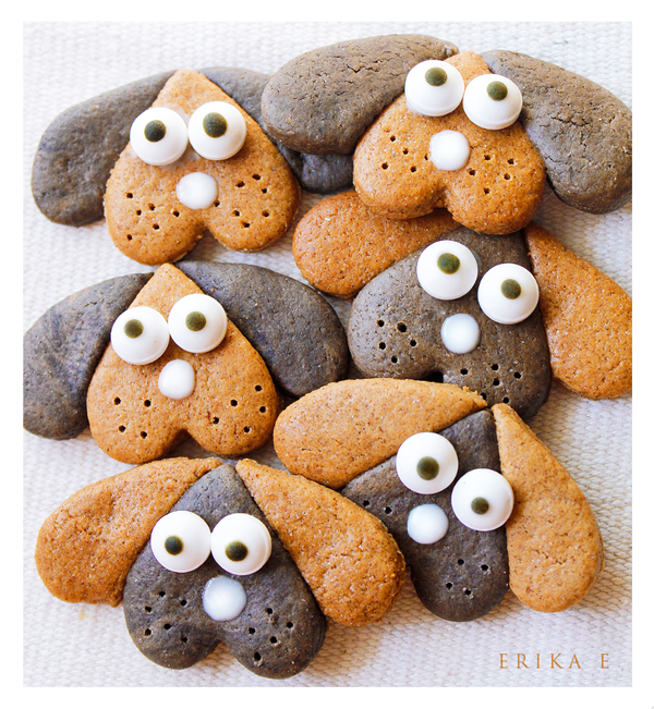 Chocolate Gingerbread  Puppy Cookies by VintageWarmth