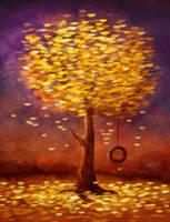 Autumn in Dusk by ScarletWarmth