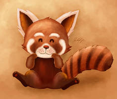 Red Panda by ScarletWarmth