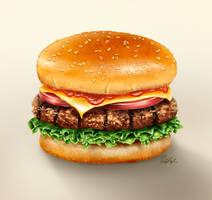Redraw Challenge - Hamburger by ScarletWarmth
