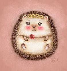 Little Hedgehog in Spring
