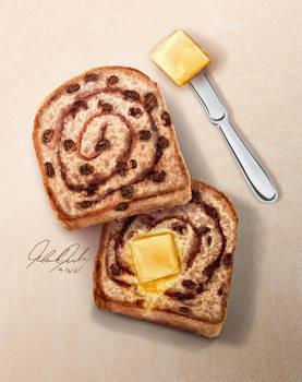 Cinnamon Swirl Raisin Bread Illustration