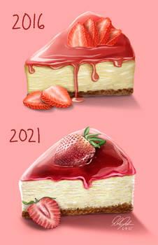 Redraw Challenge: Cheesecake Slice