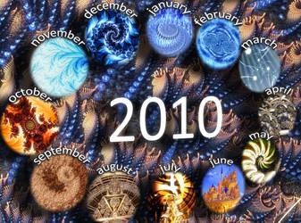 2010 Fractal Calendar by DarK--MatteR