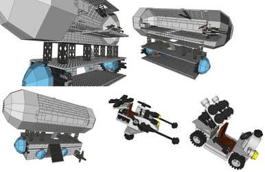 LEGO Airship by akaderyl