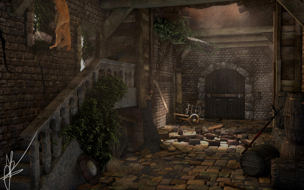 Medieval interior by nieuwus on deviantart for Castle interior designs