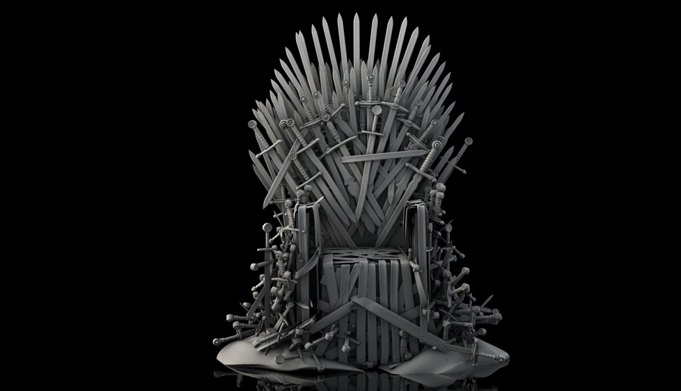 Iron throne by nieuwus on deviantart for Iron throne painting