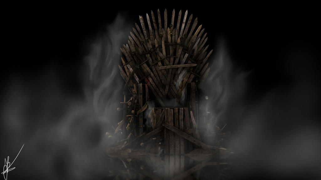 The iron throne by nieuwus on deviantart for Iron throne painting