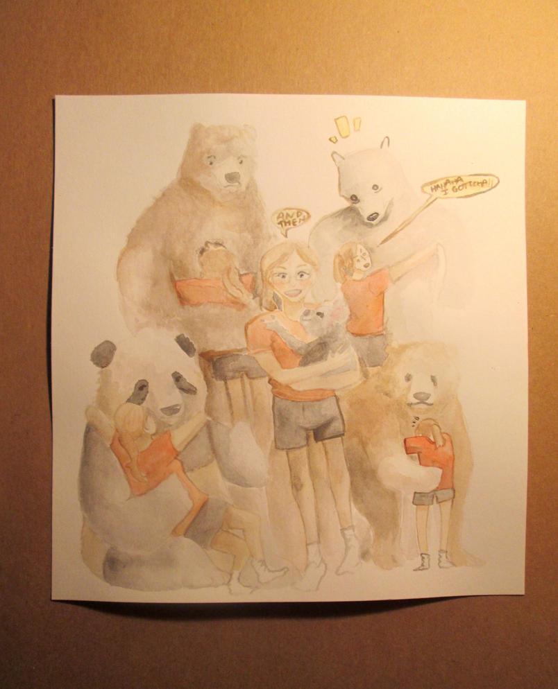 Bear Hug by MushyBeanCurd