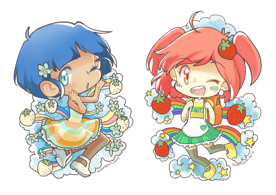 Coloring Contest Enrty: Ocean's Strawberry Babs by MushyBeanCurd