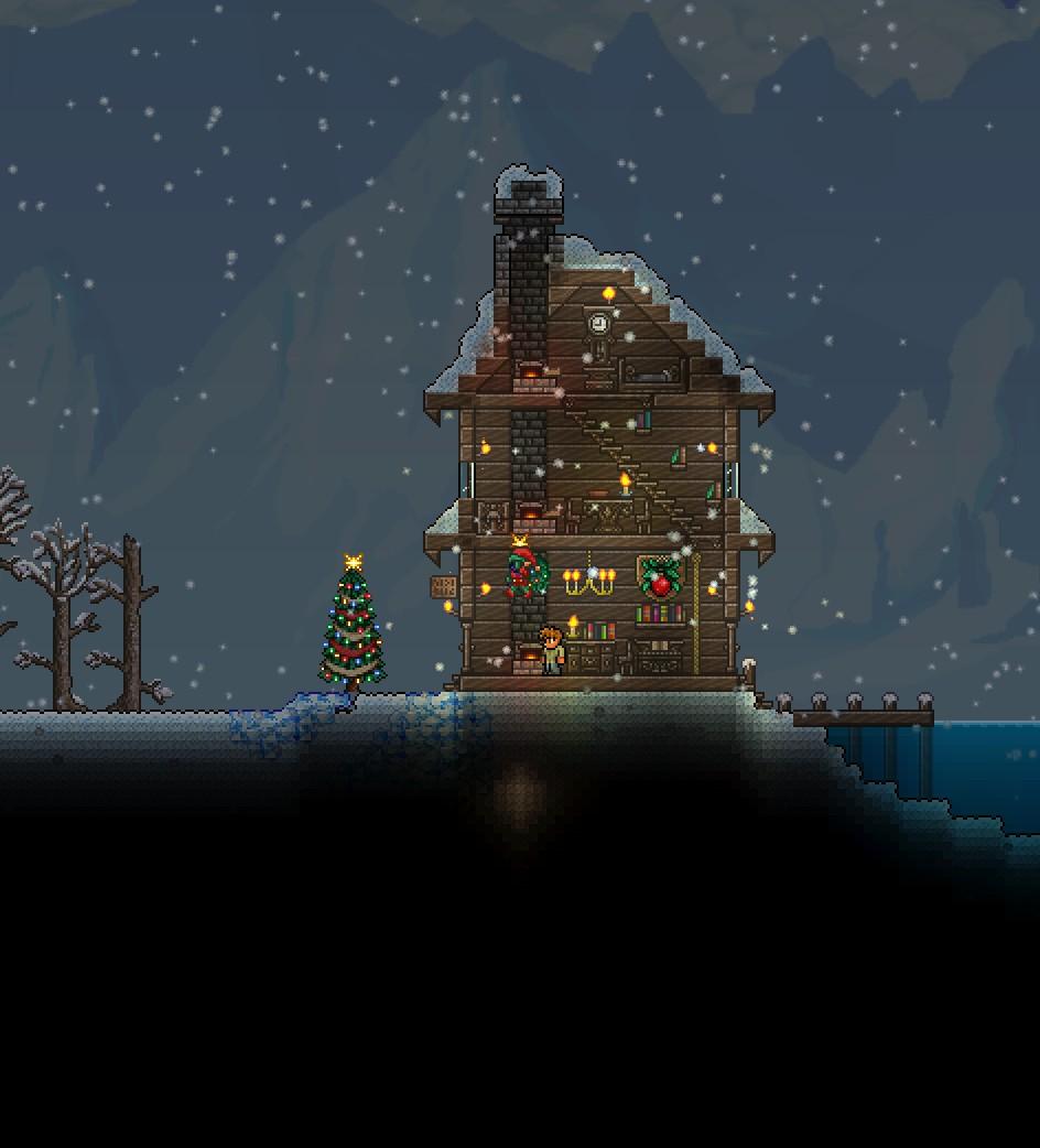 Terraria Christmas House.Terraria Christmas House By Noobiemcnoob On Deviantart