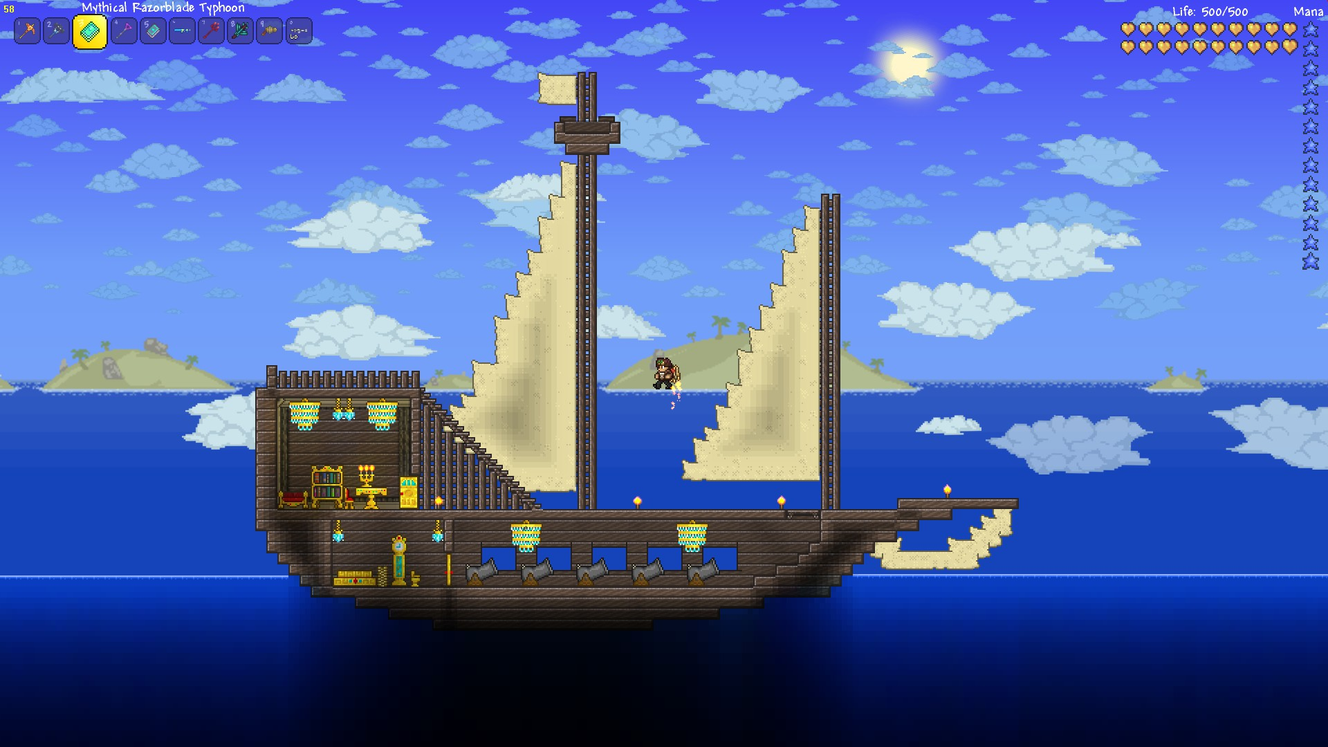 Wood Lego House Terraria Pirate Ship By Noobiemcnoob On Deviantart