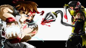 Ryu vs Scorpion by d-latt