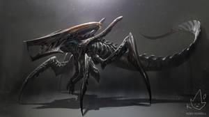 Xenomorph + Starship Trooperes Warrior Bug