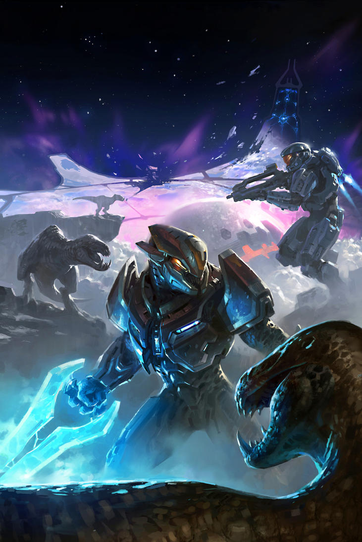Halo: Hunters in the Dark Cover by Koryface