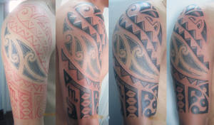 Maori Sleeve tattoo 1 by Artnik100