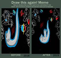 .:Draw This Again! Meme - Art Year Comarisons:. by Furea-Kitsume