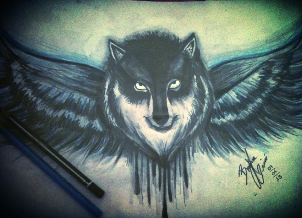 Cool Winged Wolf Wallpapers