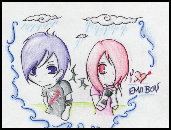 Emo Heartbroken Drawings Emo Love Kiss Drawings Emo